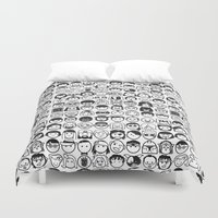 movies Duvet Covers featuring We love movies by Pinfloi