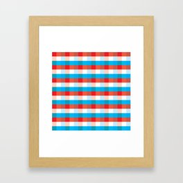 Tricolor Checkered Pattern Framed Art Print
