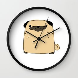 Pug Flipping Double Bird Wall Clock