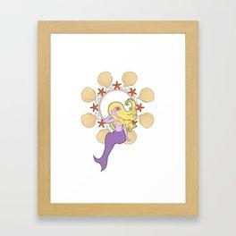 Little Siren Sister Framed Art Print