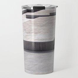 concrete geometry - modernist abstract 3 Travel Mug