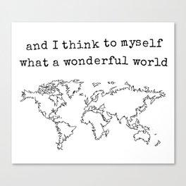 Wonderful World Canvas Print