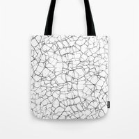 cracked Tote Bags featuring Cracked by Catrin Eluned