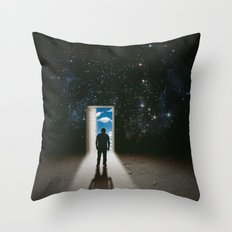 Back at it Throw Pillow