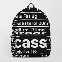 grean beans Nutrition Facts Funny Thanksgiving Backpack
