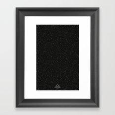 Trail Status / Technical Black Framed Art Print