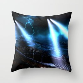 Watchers In The Water Throw Pillow