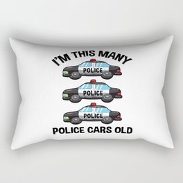 I'm This Many Police Cars Old 3 Birthday Rectangular Pillow