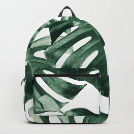 Tropical Monstera Leaves Dream #2 #tropical #decor #art #society6 Backpack