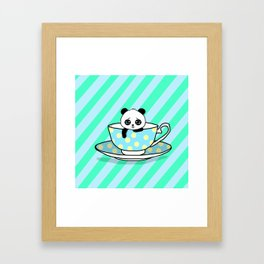 A Tired Panda Framed Art Print