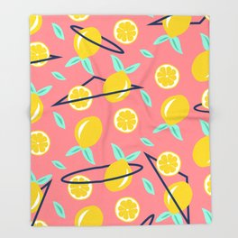 Lemons party #society6 #decor #buyart Throw Blanket