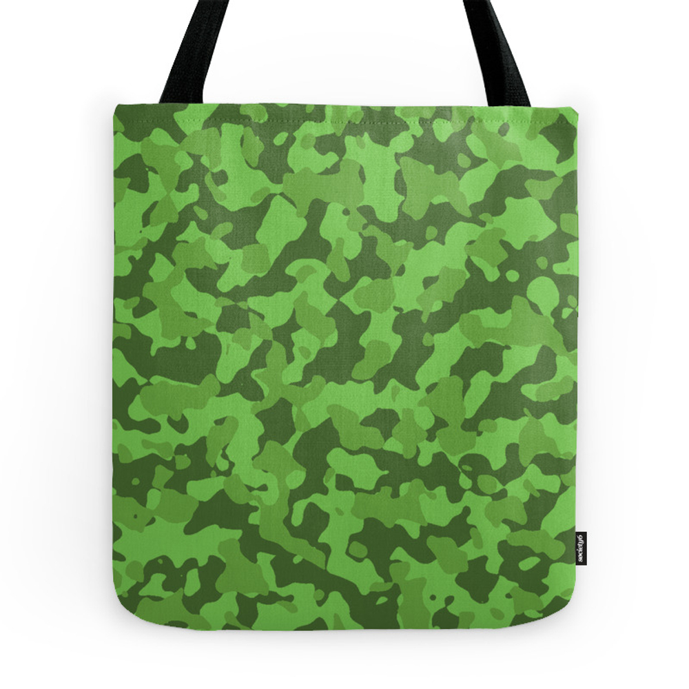 Camouflage Green Tote Purse by saravalor (TBG7389498) photo