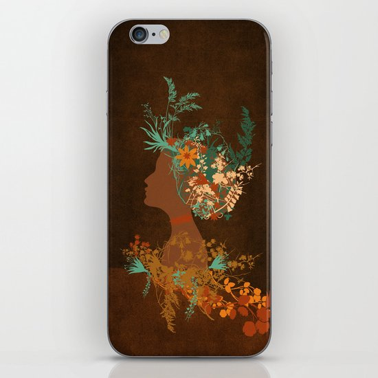 Mujer floral iPhone & iPod Skin