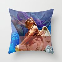 religious Throw Pillows featuring Religious Hymns of Angels by CAPTAINSILVA