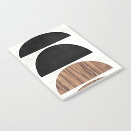 Mid-Century Modern Pattern No.7 - Concrete and Wood Notebook