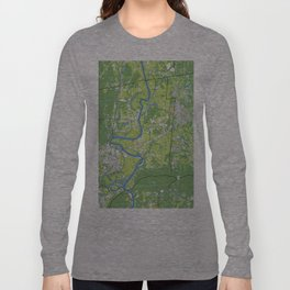 Pioneer Valley map Long Sleeve T-shirt