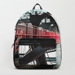 New York City Williamsburg Bridge in the Rain Backpack