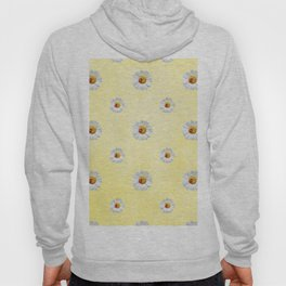 Daisies in love- Yellow Daisy Flower Floral pattern with Ladybug Hoody