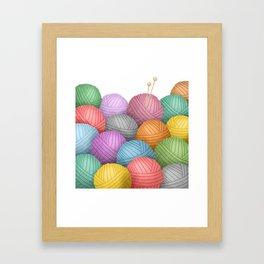 So Much Yarn Framed Art Print