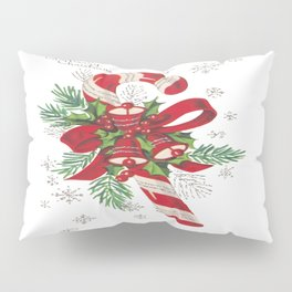 Vintage Merry Christmas Candy Cane Pillow Sham