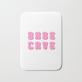 Babe cave groovy pinks Bath Mat