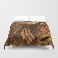 mad Duvet Covers featuring Mad Mad World by Lyle Hatch