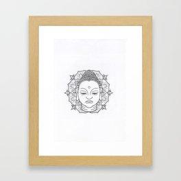 Buddha Mandala Lotus Framed Art Print