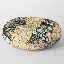 Crazy Patchwork Triangles Floor Pillow