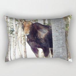 Molting Moose in Spring Rectangular Pillow