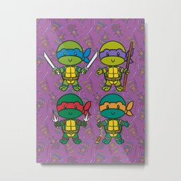 Turtle Power! Lil' CutiEs Metal Print