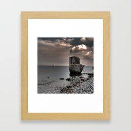 kap arkona sea ruins in magic light Framed Art Print
