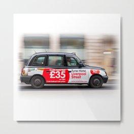 Taxi in London city Metal Print