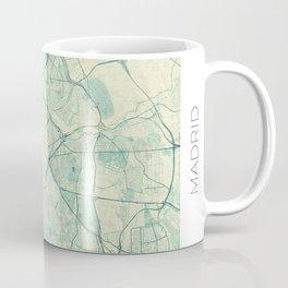Madrid Map Blue Vintage Coffee Mug