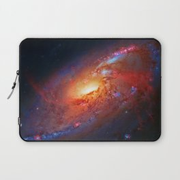 Spiral Galaxy in the Hunting Dogs constellation Laptop Sleeve