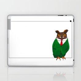 Owl in suit Laptop & iPad Skin