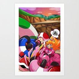 MARIO KART - YOSHI VALLEY Art Print