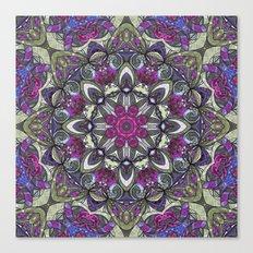 Mandala Geometric Flower G415 Canvas Print