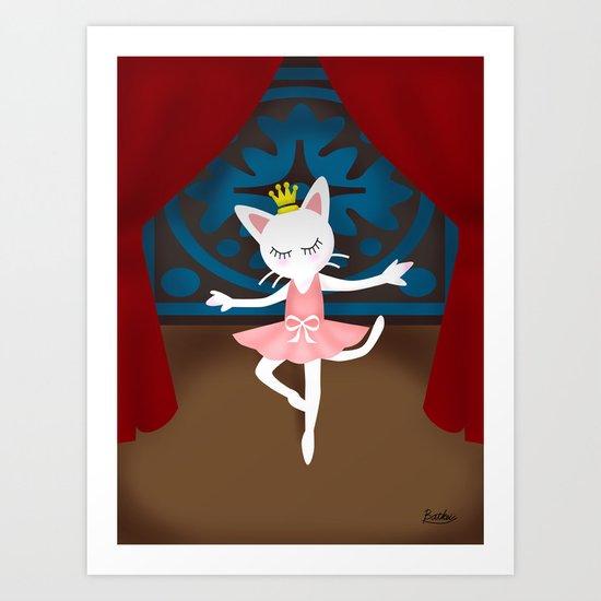 Ballet Cat Art Print
