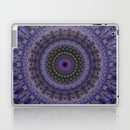 Floral mandala in violet and purple tones Laptop & iPad Skin