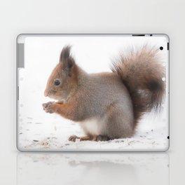 Squirrel And Lunch Pause Winter Scene #decor #society6 #buyart Laptop & iPad Skin