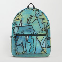 The Shoreline Ocean Abstract Fine Art Backpack