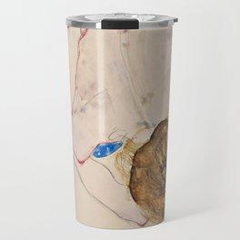 "Egon Schiele ""Nude with Blue Stockings, Bending Forward"" Travel Mug"