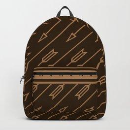 Arrows Flying (Dark Brown) Backpack