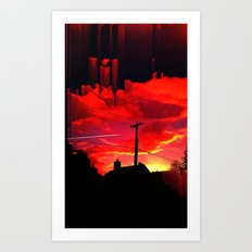 Dreaming On A Train Art Print