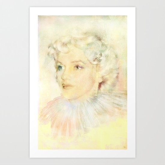 Portrait of an icon Art Print