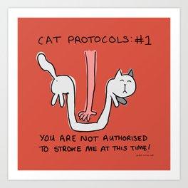Furiday Cat Protocols: #1 Art Print