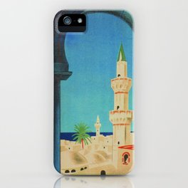 Tripoli Libya - Vintage Travel Poster iPhone Case
