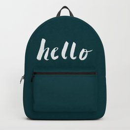 Hello x Dark Turquoise Backpack