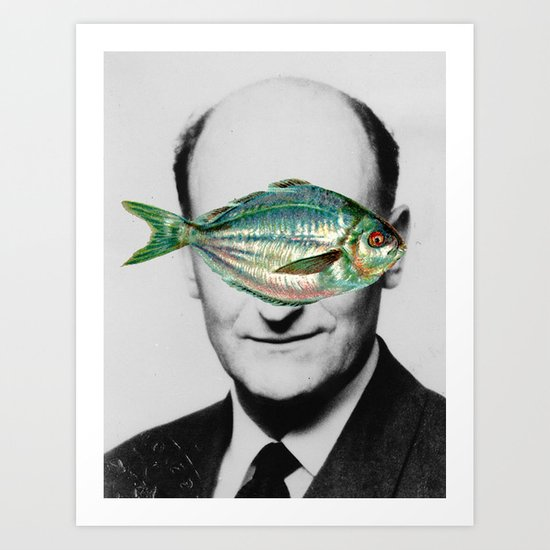 Fish face Art Print