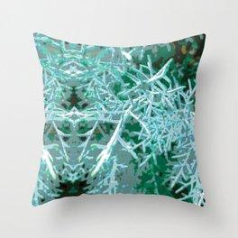 Textured Rorschach Throw Pillow